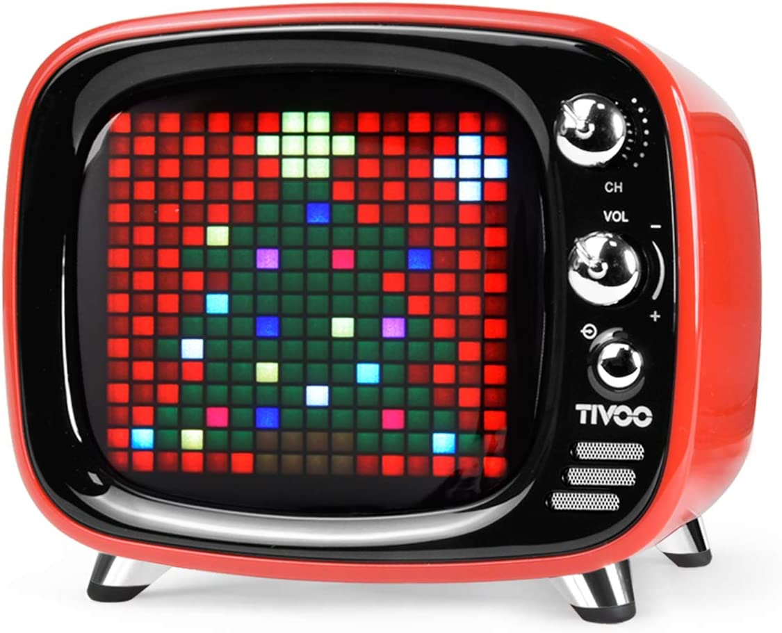 Tivoo Smart Pixel-Art Bluetooth Speaker (Starry Red)