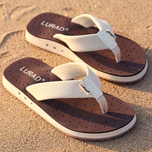 Summerwhisper Mens Fresco Traspirante Suola Antiscivolo Sandali Infradito Da Spiaggia Infradito Caffè