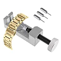 Upgraded Watch Link Removal Tool Kit, MEOZEL Watch Band Tool Link Removal Tool Watch Pin Removal Tool with 3 Extra Pins for Watch Strap Adjustment and Watch Repair