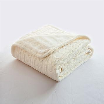 unimall couverture plaid bb tricote couvre lit laine avec torsade toutes les saisons pour canap - Couverture Lit