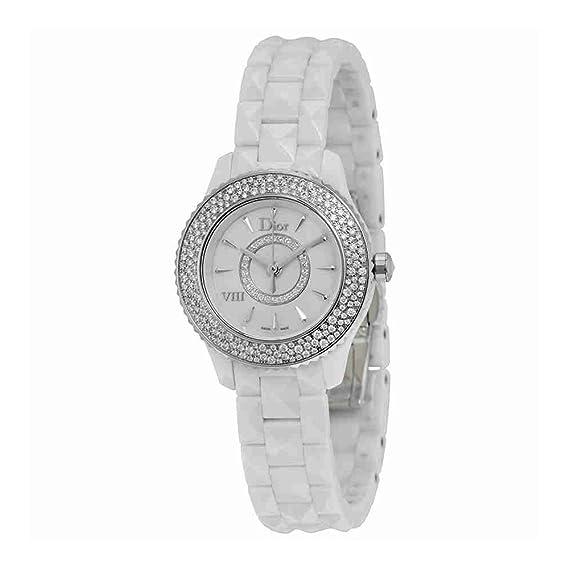cbe22fe61fca Christian Dior VIII Madre de Pearl White Hi Tech Cerámica Diamond Ladies  Watch cd1221e4 C001  Christian Dior  Amazon.es  Relojes