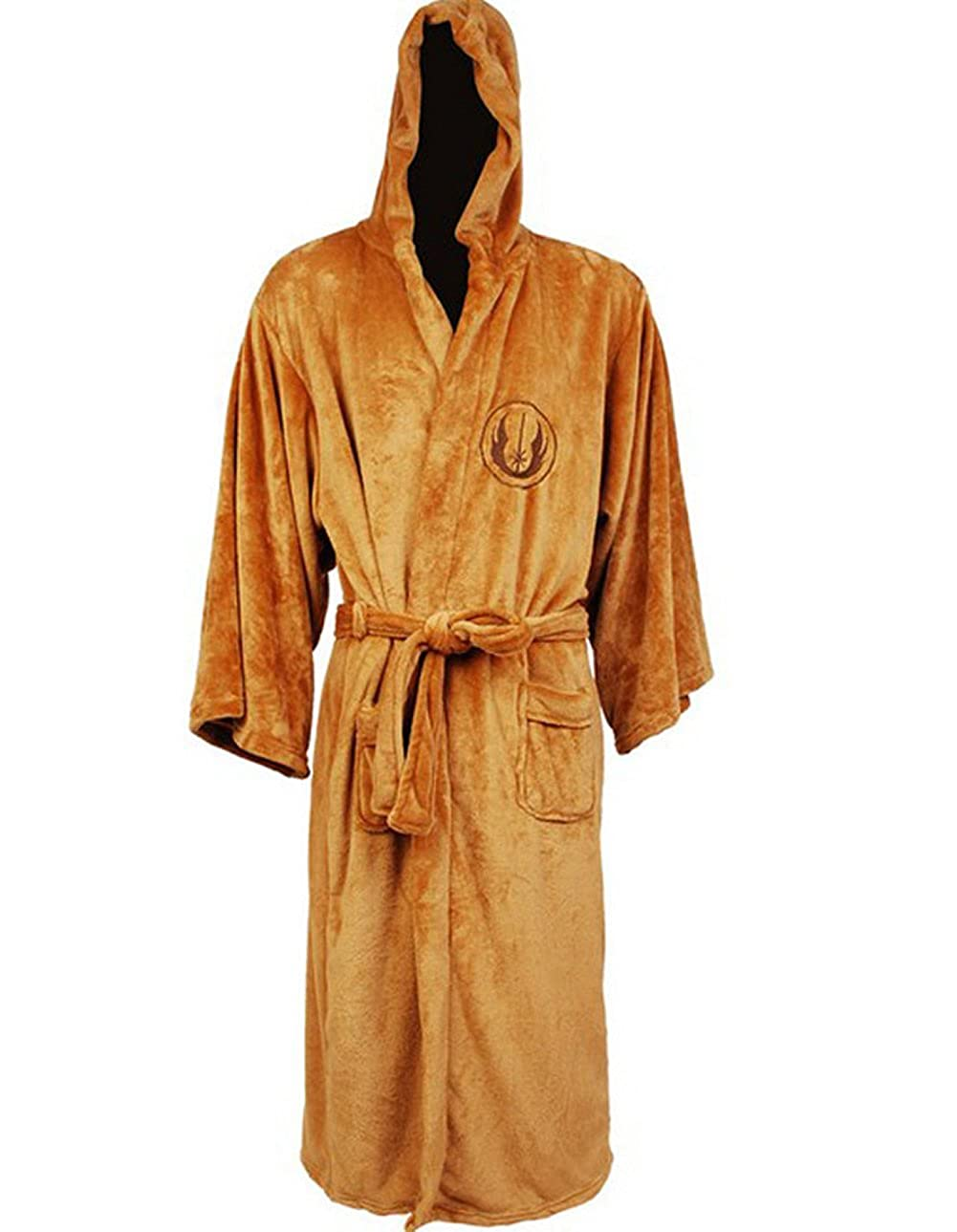 Amazon.com  Star Wars Jedi Fleece Bathrobe (Medium Tan)  Clothing 6ec97f0d0