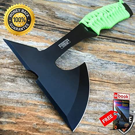 9'' ZOMBIE SURVIVAL TOMAHAWK AXE BATTLE Hatchet Knife