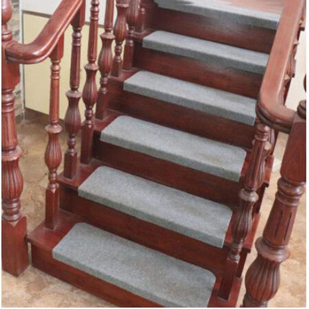 KY&CL Juego de escalones de Escalera de Goma Antideslizante (60 * 21cm) Hermosa Alfombra de Escalera de diseño Floral con Forro de Goma,A,21 * 60cm: Amazon.es: Hogar