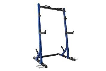 Newton Fitness N830 Jaula de Squat/Half Rack: Amazon.es: Deportes ...