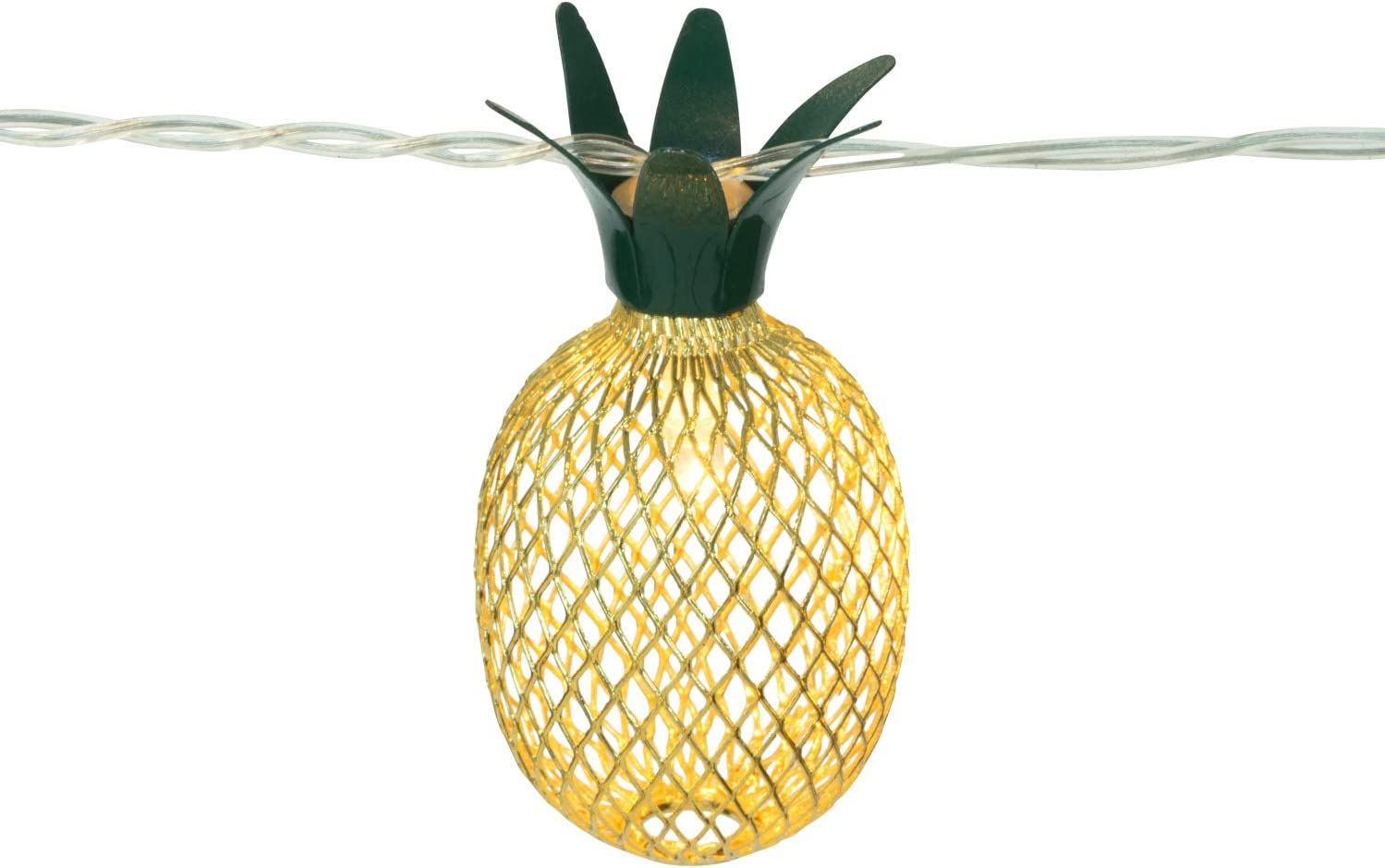 10 LED Pineapple Decorative String Lights by Modfamily, Bedroom & Home Decor, Party Decorations - LED Lighting Chain