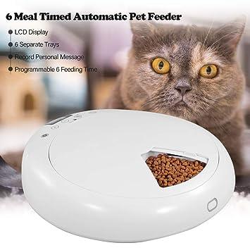 XDYFF 6 Veces/día LCD Automático Alimentador los Mascotas ...
