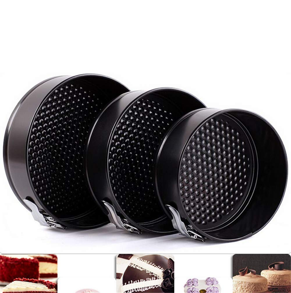 Cake Tin Set,Nonstick and Leakproof 3 Pieces (9''/10''/11'') Cake Pan Spring Form Cheesecake Pan Set with Removable Bottom