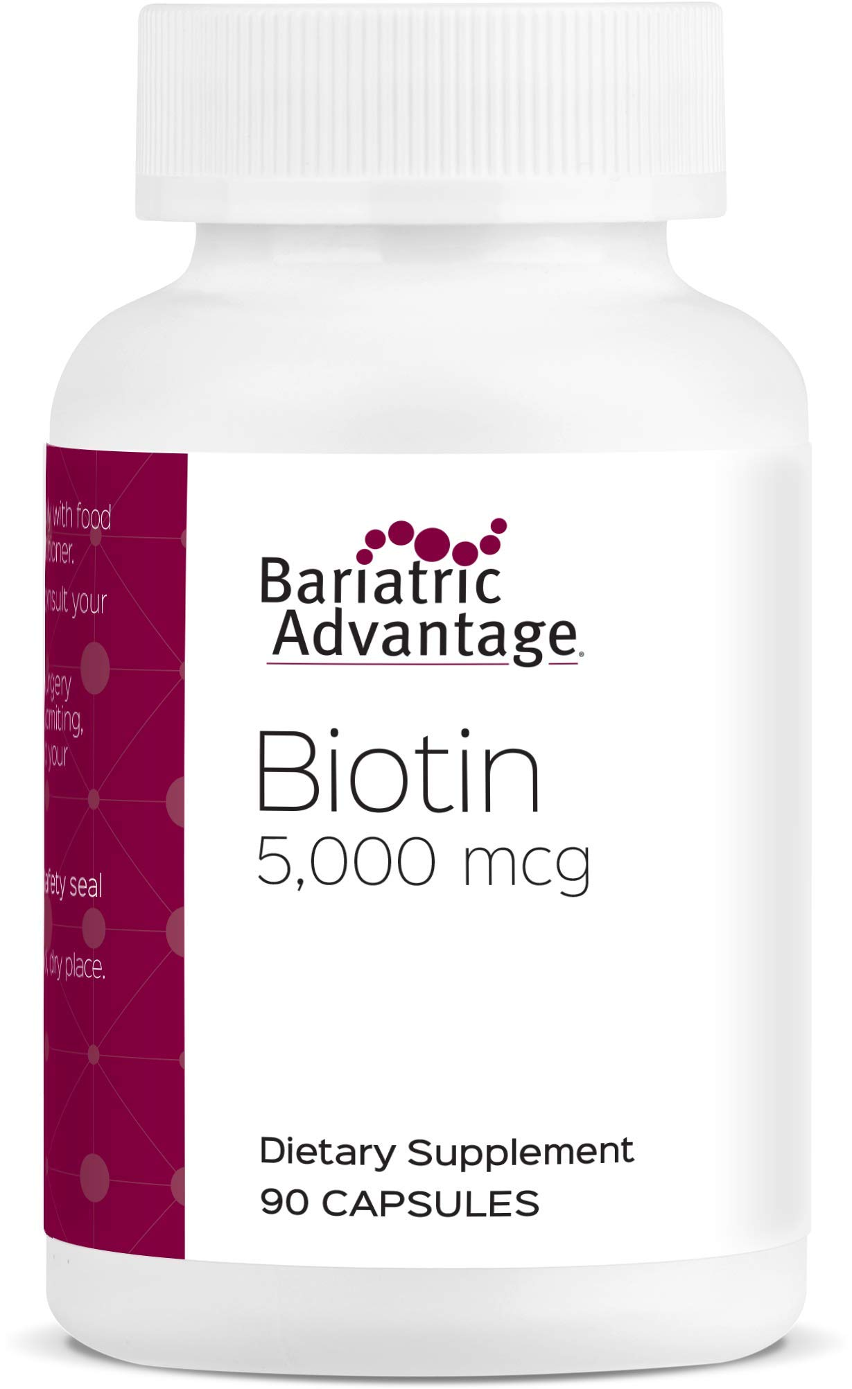 Bariatric Advantage - 5mg Biotin Capsules, 90 Count by Bariatric Advantage