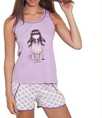 Amazon.com: Santoro - Women pajamas set Sleepwear SANTORO OOPS-A-DAISY - LILA, XL: Clothing
