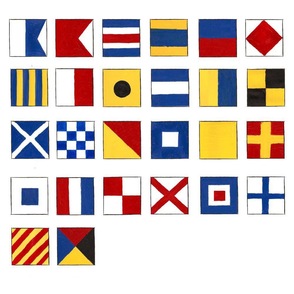 Marine Naval Signal Flags/Flag SET- Set of Total 26 flag Code -Total 28 Flag – Nautical/Maritime Boat/Ship / Vessel/Nautical Décor (5113)