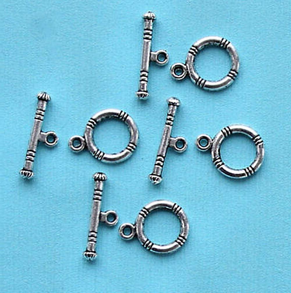 jewelry craft Small Toggle Clasp SA0035-PG making bracelet Polished Gold-1 Set-