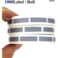 Silver Pin Code Scratch Off Labels Stickers [0.24 x 1.57inch] [6 x 40mm] [Roll of 1000]