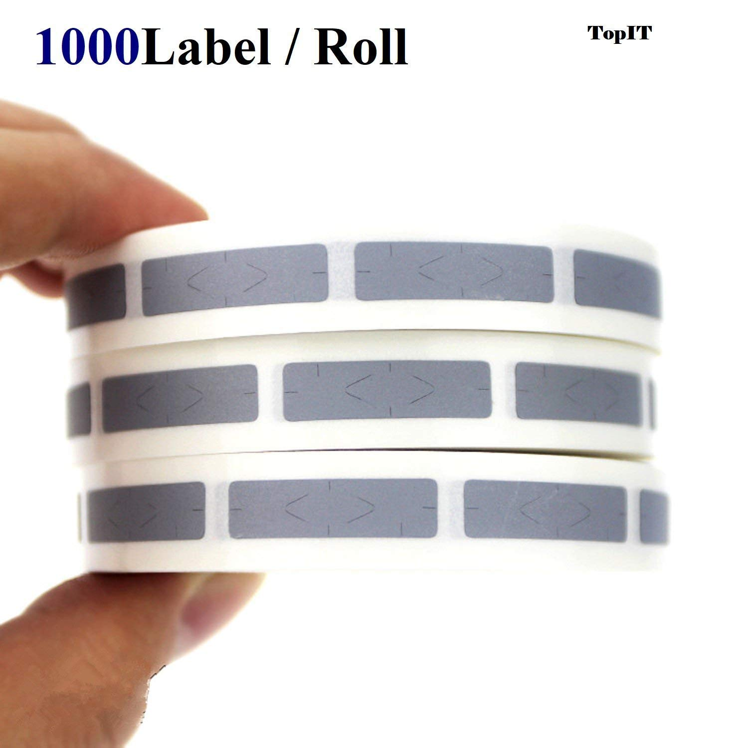 Password Scratch Off Labels Silver Gift Card scratch off Sticker for Business Games and learning purposes [0.24'' x 1.57''inch] [6 x 40mm] [Roll of 1000]
