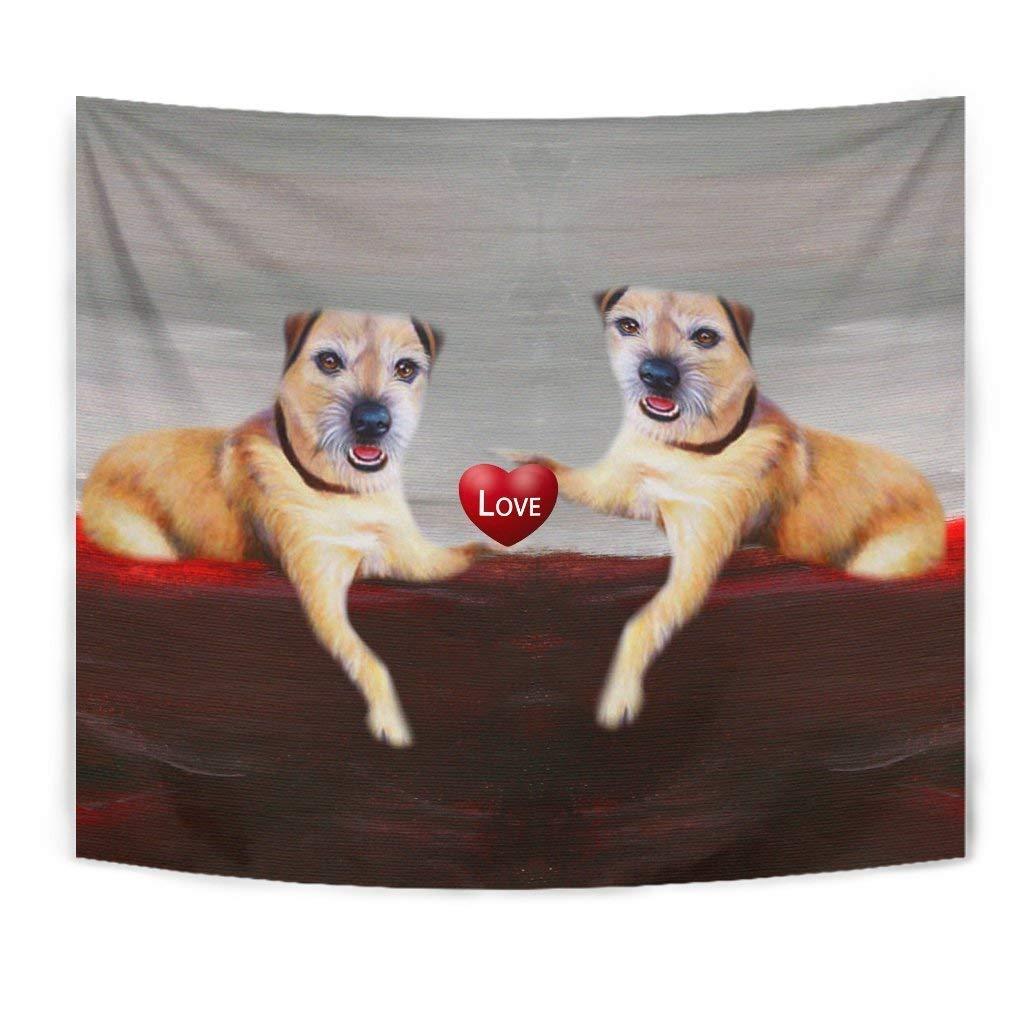 Border Terrier Love Print Tapestry by Breedink