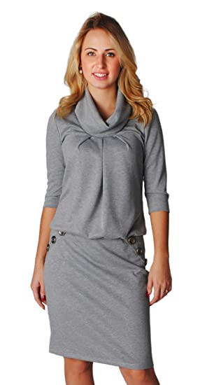 Dress Code One Smart And Very Comfy Grey Dress For Women Made In Eu