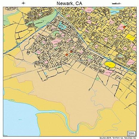 Amazon Com Image Trader Large Street Road Map Of Newark