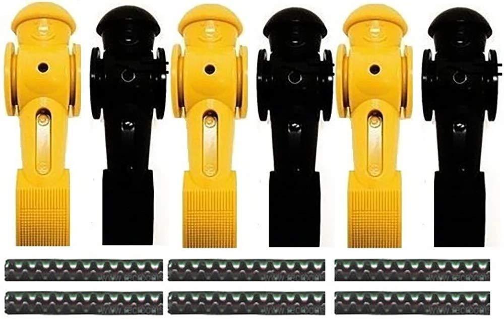 Tornado 6 Foosball Men Counter Balanced Roll Pin