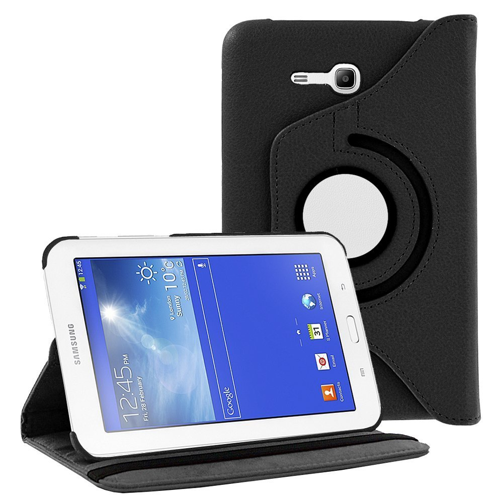 Red Samsung Galaxy Tab E Lite 7.0 Tablet Case,Flying Horse 360-degree Rotating Stand PU Leather Case Cover for Tab E Lite 7 inch SM-T110 SM-T111 SM-T113