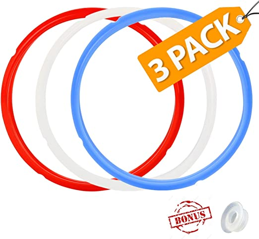 3 Pack Rubber Silicone Sealing Ring for Instant Pot Pressure Cooker Accessories 5//6 Quart Easy Clean Replacement Safety Accessory