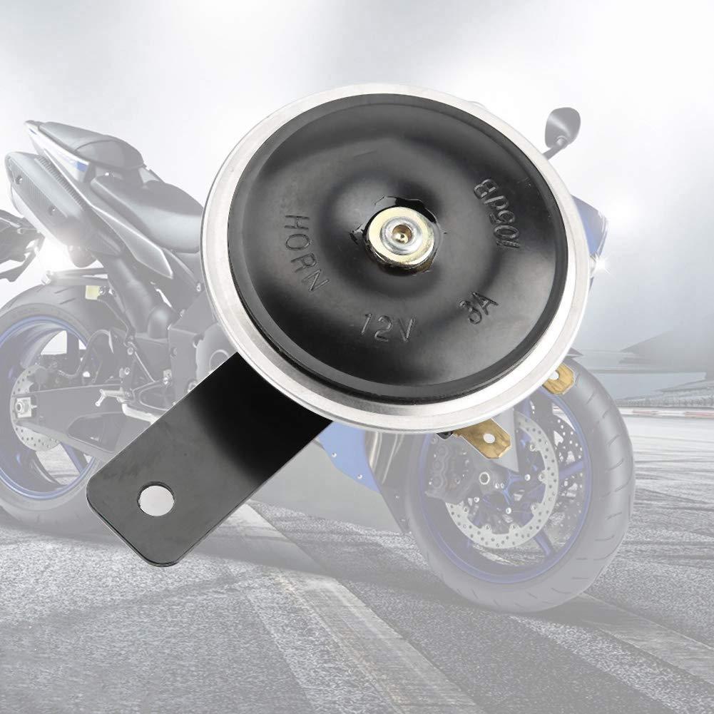 Fydun Corno Allarme Horn Universal 105dB Horn Motociclo 3 pollici 12V Altoparlante Corno Metal