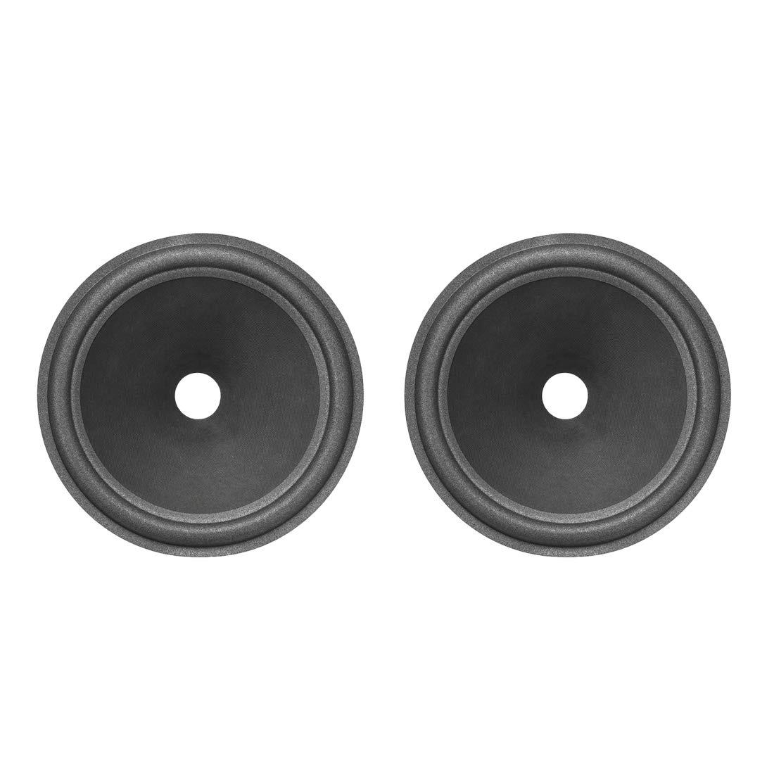 uxcell 10'' Paper Speaker Cone Subwoofer Drum Dot Paper 1.4'' Coil Diameter with Foam Surround Dark Grey 2 Pcs