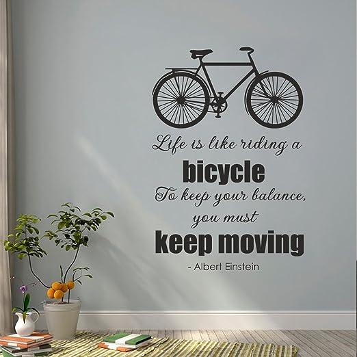 Diciendo de motivación – la vida es como montar en bicicleta. Para ...