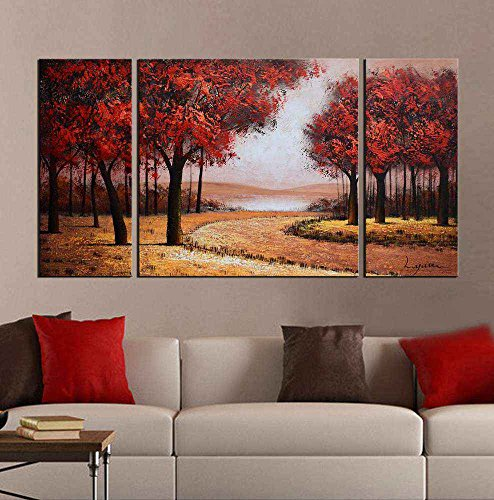 ARTLAND Modern 100% Hand Painted Landscape Oil Painting on Canvas