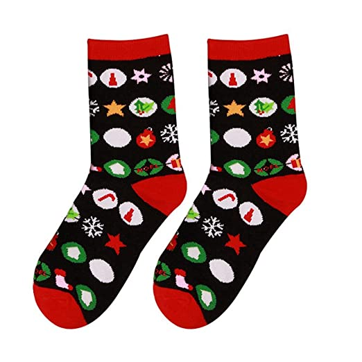 XY Fancy Unisex Christmas Stockings Cartoon Warm Cotton Socks Xmas Holiday Gifts  Christmas Gift