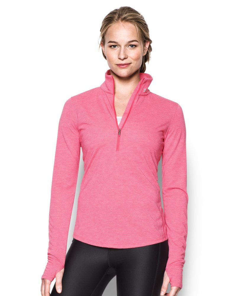 Under Armour Women's Streaker 1/2 Zip, Pink Sky/Reflective, Small by Under Armour
