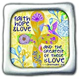 Cathedral Art SIM125 Faith Hope Love Inspirational Magnet, 1-3/4-Inch