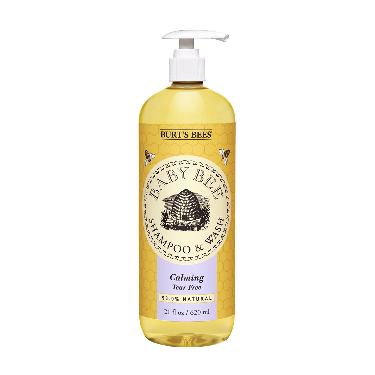 Burt's Bees Baby Bee Shampoo and Wash, Calming, 21 Fluid Ounces (Packaging May Vary) Burt' s Bees K-BB-1076