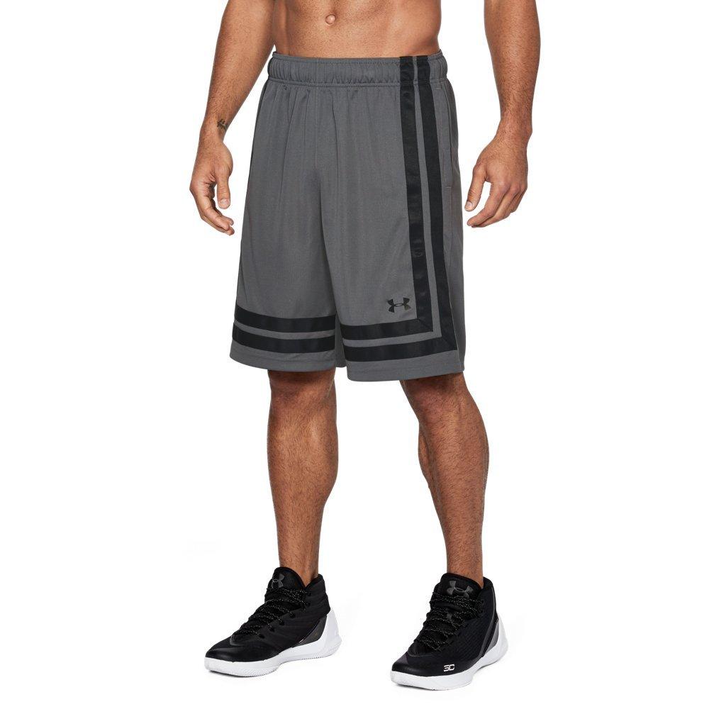 Under Armour Men's Baseline 10'' Shorts, Graphite (040)/Black, Medium by Under Armour