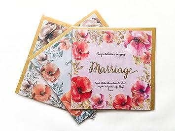 Islamische Hochzeit Nikaah Ehe Congratulations Karten 3 Kartchen