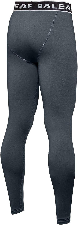 Baleaf Youth Boys Compression Thermal Baselayer Sport Basketball Tights Fleece Lined Leggings
