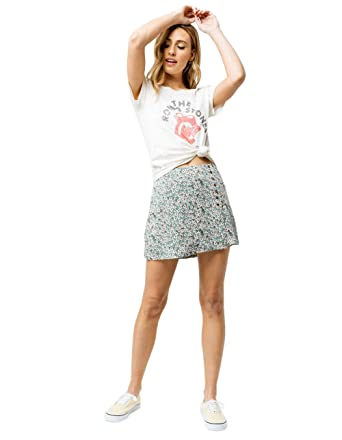 bc304bcc2653 Image Unavailable. Image not available for. Color: Sky and Sparrow Ditsy  Floral Button Front Mini Skirt ...