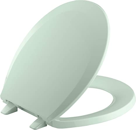 Superb Kohler K 4662 Lustra Q2 Round Closed Front Toilet Seat With Quick Release And Qu Seafoam Green Ncnpc Chair Design For Home Ncnpcorg