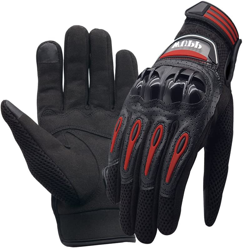 XL Hiking and Other Outdoor Sports Climbing Motorbike Gloves Men Women WANYI Motorcycle Gloves Full Finger Touchscreen Gloves Breathable Leather for Motorcycle ATV Riding