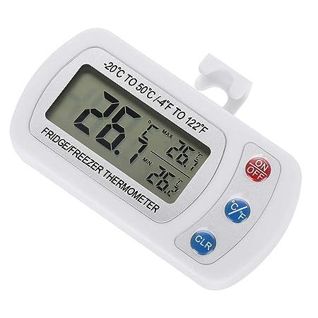 Jadeshay Frigorífico congelador termómetro Digital, indicador de ...