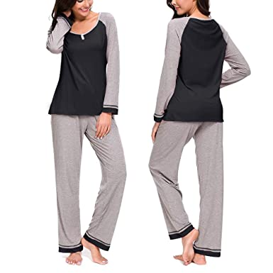 Image Unavailable. Image not available for. Color  Womens Pajamas Set Long  Sleeve ... 1c74cf80b