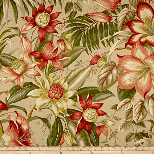 Tommy Bahama Indoor/Outdoor Botanical Glow Tiger Stripe Fabric by The Yard