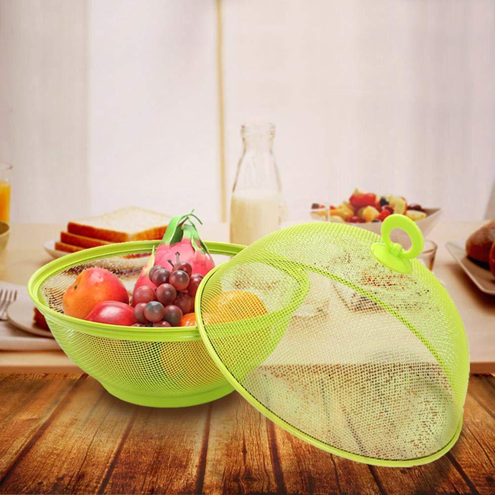 Morningtime Panier De Vidange pour Fruits Et L/égumes De Cuisine en Acier Inoxydable Panier De Cuisine Corbeille /À Fruits en M/étal Assiette De Fruits 27x24cm