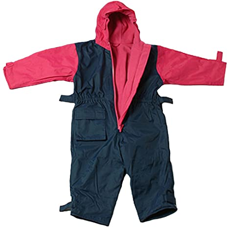 76cm Togz 9-12 mth Navy//Pink Fleece Lined Waterproof All-in-One Suit