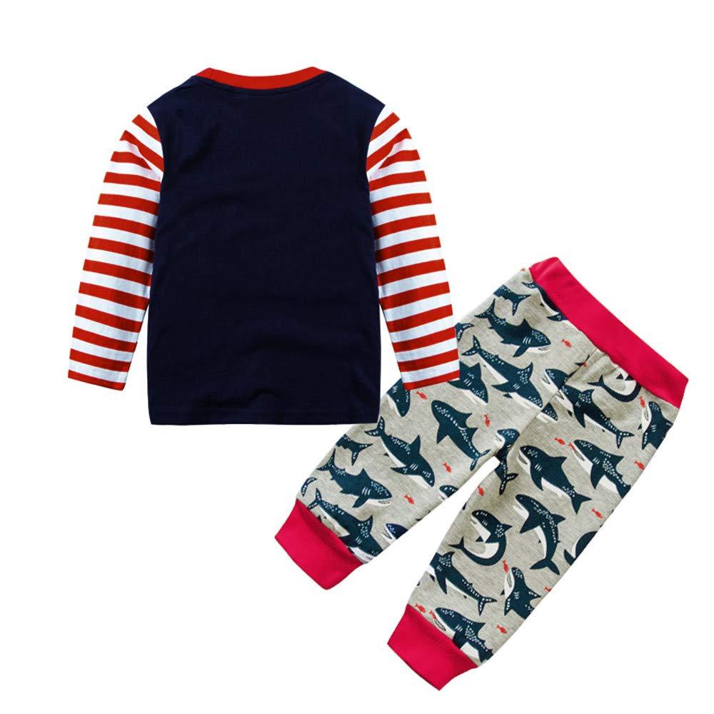 855dde12eeb Conjuntos para Niños Manga Largas Otoño 2018 Moda PAOLIAN Ropa de Camisetas  y Pantalones Invierno Navidad Ampliar imagen