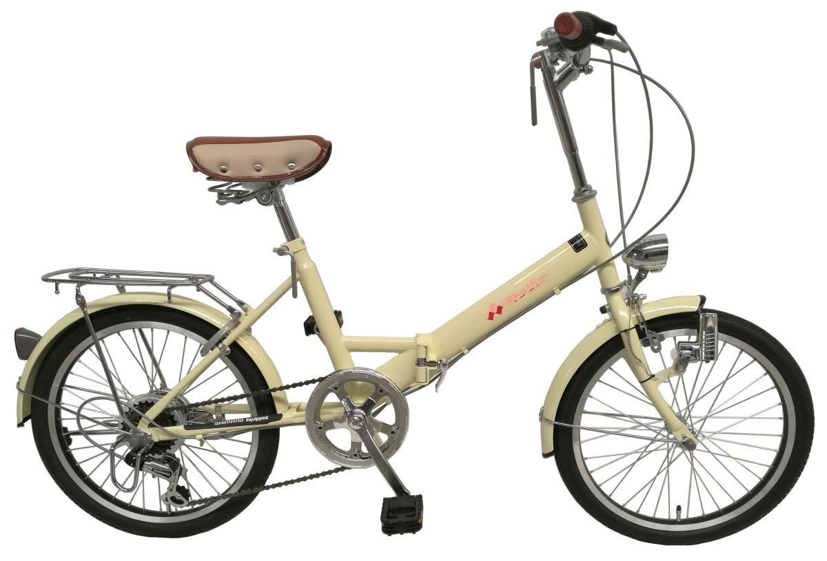 適切な価格 リズム(RHYTHM) 20インチ 折りたたみ自転車 アイボリー シマノ6段変速 RH206CPBD アイボリー 20インチ B07PY6L3RF B07PY6L3RF, ジューシーガーデン プラス:f3d40139 --- senas.4x4.lt