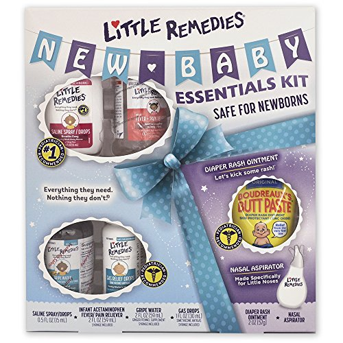 Little Remedies New Baby Essentials Kit- Featuring Both Boudreaux's Butt Paste & Little Remedies Products, Safe for Newborns-6 Products Included in Gift Box