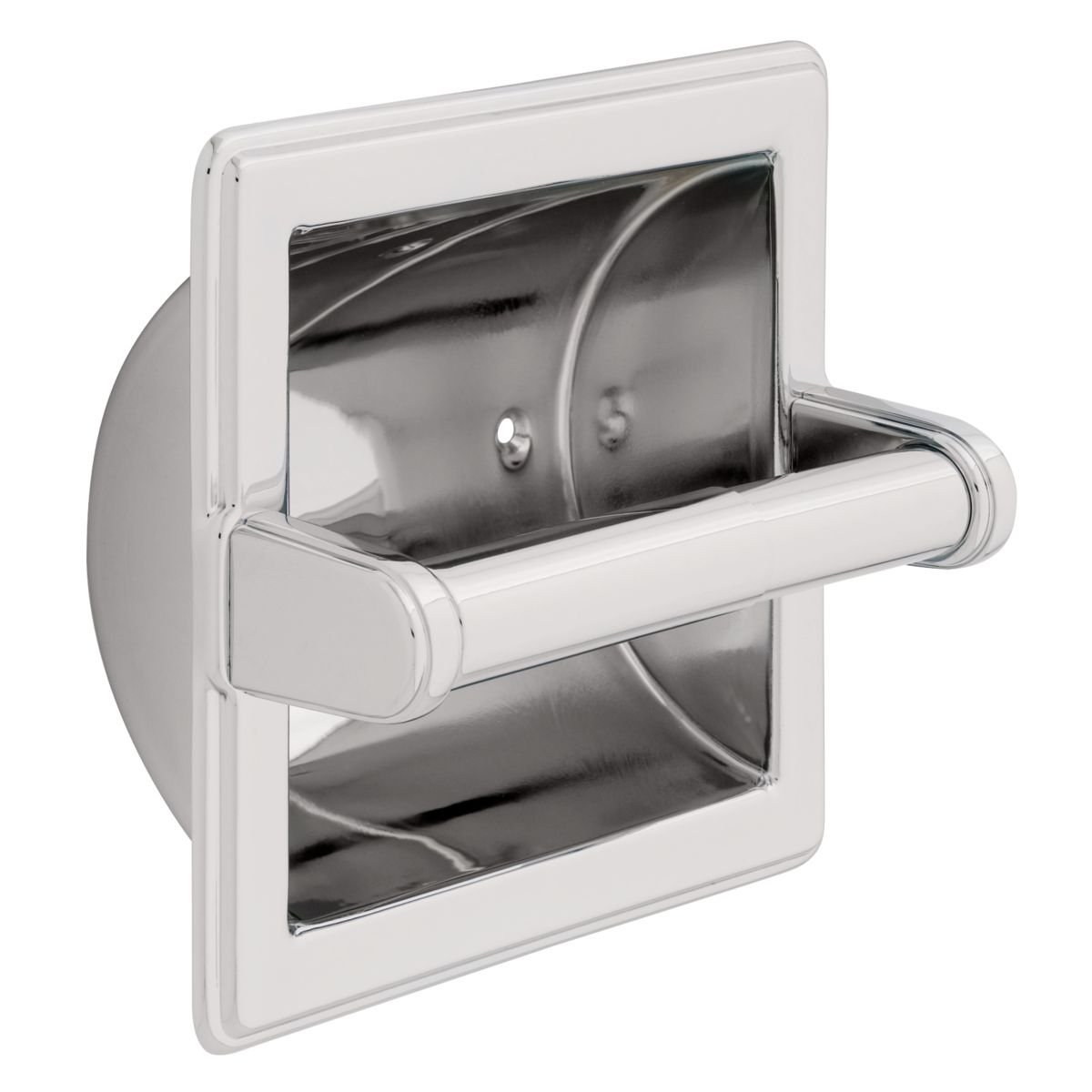 Franklin Brass 9097PC Recessed Paper Holder with Beveled Edges