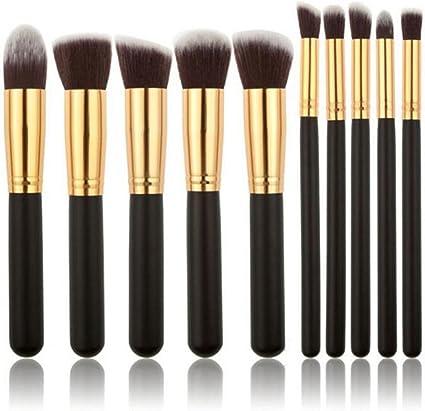 Youkara 10 Piezas Set de Brochas de Maquillaje Cosmético Pincel de Función de Labios Herramientas de Maquillaje de Profesional DIY: Amazon.es: Belleza