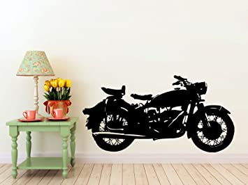 Classic Motorcycle Vinyl Wall Decal- Harley Davidson Interior Design & Amazon.com: Classic Motorcycle Vinyl Wall Decal- Harley Davidson ...
