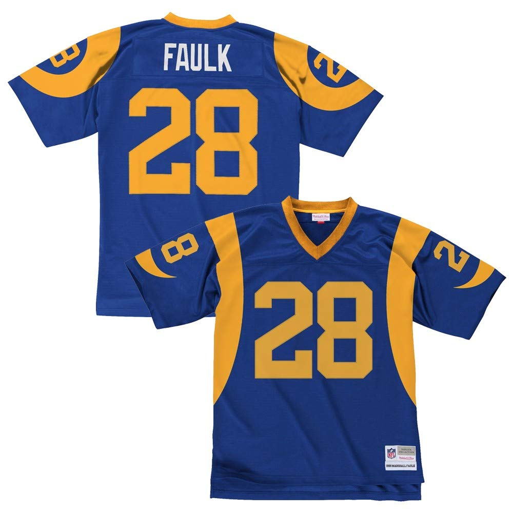 new arrival 6ecc2 ec7a7 Marshall Faulk Los Angeles Rams Royal Blue Throwback Jersey
